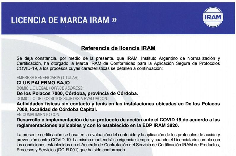 licencia Iram